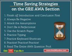 Time Saving Strategies  on the GRE AWA Section