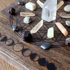 Crystal Grid - Arched Poplar | Stone & Violet / Sacred Spaces <3