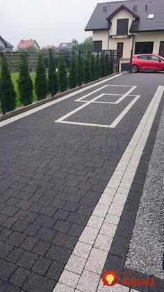 """Get great tips on """"patio pavers design"""". They are actually offered for you on our web site. Front Garden Ideas Driveway, Modern Driveway, Driveway Design, Driveway Landscaping, Modern Landscaping, Stone Driveway, Concrete Patio Designs, Paver Designs, Stamped Concrete Driveway"""