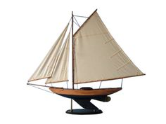 Admiral's Sloop 40  NOT A MODEL SHIP KIT Attach Sails and the Admiral's Sloop model yacht is Ready for Immediate Display  These grand sailing ship models are perfect for any home, beach house or office as the proud centerpiece for a nautical decor themed sunroom or inspirational highlight of a corporate meeting room. Beauty and grace combine in the Admiral's Sloop model yacht to emanate elegance and a winning spirit.  40 inch High x 6 inch Wide x 38 inch Long  High quality Craftsmanship…