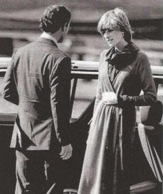 October 6, 1981 - sad and unwelcome interruption to the honeymoon at Balmoral - Charles and Diana's farewell at Heathrow, Charles heading off for Sada...
