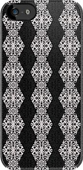 Baroque Style Inspiration #Redbubble #iPhone #case #cover #Baroque #floral #abstract #black #white http://www.redbubble.com/people/medusa81/works/10886568-baroque-style-inspiration?p=iphone-case