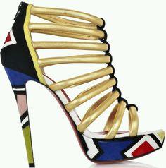 Ndebele inspired heels...