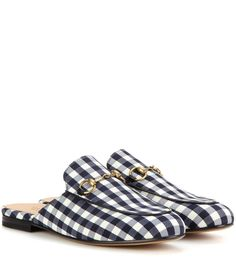 mytheresa.com - Princetown check slippers - Key pieces - Inspiration - Luxury Fashion for Women / Designer clothing, shoes, bags women's slippers - http://amzn.to/2ikL0vs