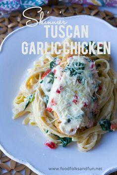 Skinny Tuscan Garlic Chicken Recipe - an Olive Garden Copycat Recipe | www.foodfolksandfun.net | #ad #CopycatRecipe #Recipe