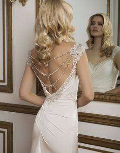 Style 8820: Beaded Jersey Straight highlighted by a Sweetheart neckline | Justin Alexander