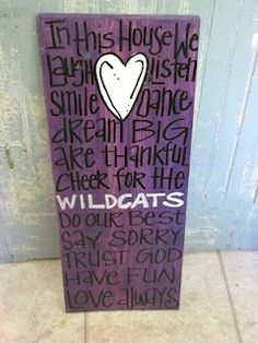 Gonna do this & of course change it to Tigers! Creative Genius Art - KSU theme for my old friend Sloan, she knows I will forever bleed crimson in blue but any wildcat thing I find I have to let her know! Diy And Crafts, Arts And Crafts, My Old Kentucky Home, Crafty Craft, Crafting, Change, Making Ideas, Just In Case, Craft Projects