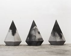Marbled Concrete Geometric Minimalist Vase by frauklarer on Etsy