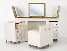 Muebles Portobellostreet.es:  Escritorio Tocador Diva TriBeCa - Mesas de Escritorio Vintage - Muebles Vintage