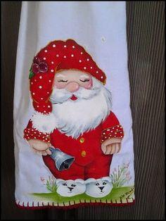 A de Arteira: Pintura em tecido – Noel de Pijama