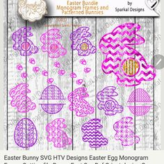 Easter Bunny and monogram egg SVG file available now in my shop. http://ift.tt/1LANmBr #svg #christmassvg #silhouettecameo #cricutexplore #cricut #svgcuttingfiles #glassblocksvg #heatpress #htv #glittervinyl #circlemonogram #eastersvgfiles