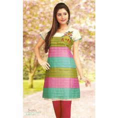Multi Color Pleated Pattern #Kurti