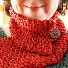 loom knitting neck warmer