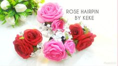 Hairpin,rose,accesories wedding,traditional wedding,by keke handmade
