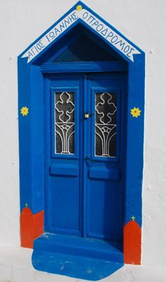 Santorini, Greece door