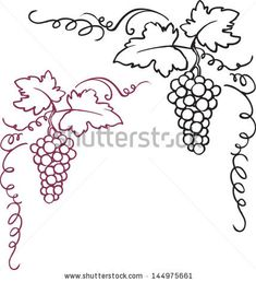 Vine and berries clip art Free vector for free download about (3) Free vector in ai, eps, cdr, svg format .