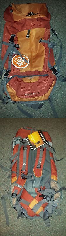 Other Camping Hiking Backpacks 36109: High Sierra Summit 45 Internal Frame Pack Orange Hiking Backpacking Backpack BUY IT NOW ONLY: $70.0