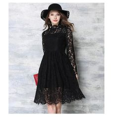 cadfb1aaff New 2016 Spring Women dress Fashion casual Long sleeve Hollow Out Lace
