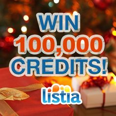 Win 100,000 Holiday Credits!  You can get a whole lot of things with that many credits :)
