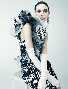 black tie white noise: ruby aldridge by ralph mecke for french revue de modes!