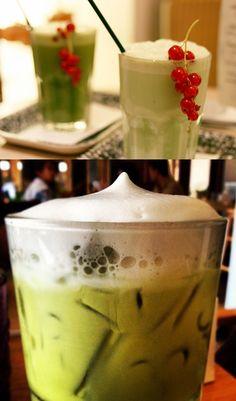 DIY Recipe | Iced Green Tea Lattes ... #healthy #stevia #drink