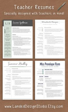 modern resume sample for elementary teacher graphic