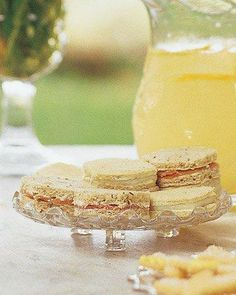 Mother's Day Recipes // Roquefort Butter and Red Pear Tea Sandwiches Recipe
