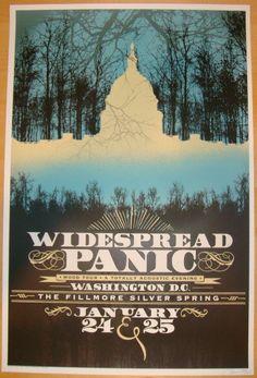 2012 Widespread Panic - DC Concert Poster by Chris Bilheimer | JoJo's Posters