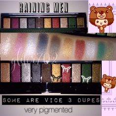 Unbelievable, this palette has three shades that are dupes for UD Vice 3