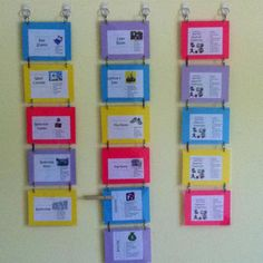 Chore charts for 3 kids. Use colored clothes pins to mark a chore as complete.