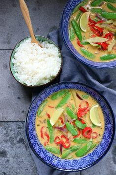 Thai Recipes, Indian Food Recipes, Pasta Recipes, Poke Bowl, Happy Foods, Thai Red Curry, Good Food, Veggies, Soup