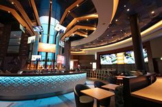 The Sports Bar at Victoria gate boasts the region's largest TV screen