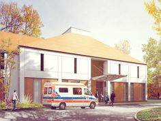 Hospital in Rawicz, Poland - concept design by Archimed, rendering