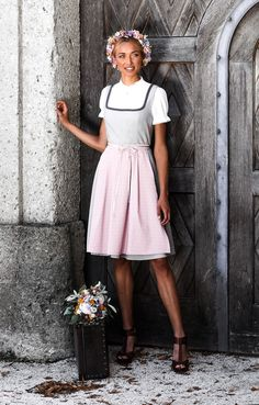 Paisley, Trends, Outfit, Midi Skirt, Skirts, Fashion, Pink, Printed Cotton, Dirndl Blouse