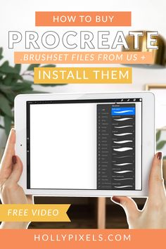 how-to-download-install-procreate-brushset-file-pinterest