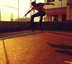 Kickflip and sunset