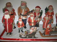 A collection of old Santas. Christmas 2013.