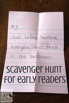 Scavenger Hunt for Early Readers