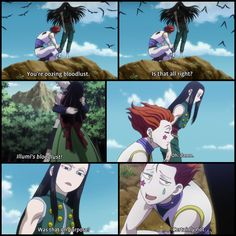 Illumi's bloodlust! Hahahahaha! I kinda hate Illumi, but there are rare moments that I'm ok with him.