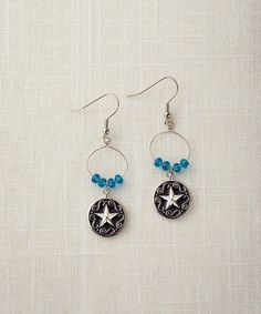 Another great find on #zulily! Black & White Star Drop Earrings by Big Sky Silver #zulilyfinds
