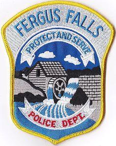 Fergus Falls Police Patch Minnesota