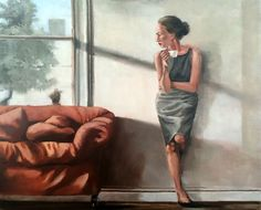 Morning Coffee - oil on canvas painting by Mila Posthumus