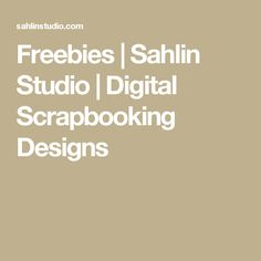 Freebies | Sahlin Studio |  Digital Scrapbooking Designs