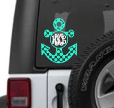 A personal favorite from my Etsy shop https://www.etsy.com/listing/467461295/anchor-monogram-decal
