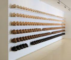 Maya Attoun, Abacus, 2012, linoleum, MDF, 260x800 cm