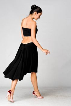 Tailed milonga skirts by Buket Akdol  www.stylishtango....