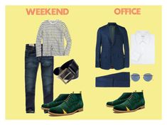 MEN weekend & office by shoebedo on Polyvore featuring Brioni, J.Crew, Hollister Co., Gucci, Diesel, men's fashion and menswear