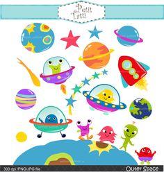 ON SALE outer space clip art - UFO clip art, kids space clip art, Alien clip art, Planet clip art, Rocket clip art by petittatti on Etsy https://www.etsy.com/uk/listing/490233783/on-sale-outer-space-clip-art-ufo-clip