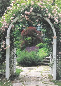 Garden arch - thinking how I can create this......  Can do the roses.....  Think I can do the arch.  Just need to give it a go