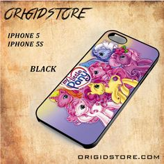 My Little Pony Cute Black White Snap On 3D For Iphone 5/5S Case